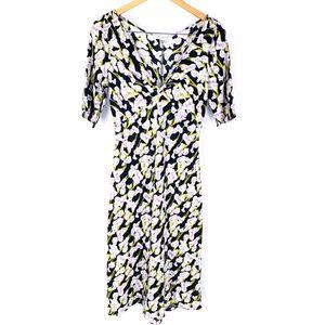 DVF Silk Francine Floral Vintage Midi Dress